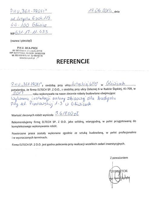 ul. Piastowska w Gliwicach, anteny