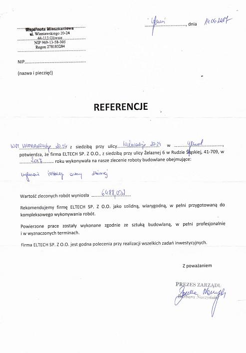 WM ul.Wieniawskiego 20-24 Gliwice
